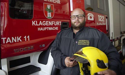 Christian Lackner ist Kommandant-Stellvertreter der FF Hauptwache Klagenfurt