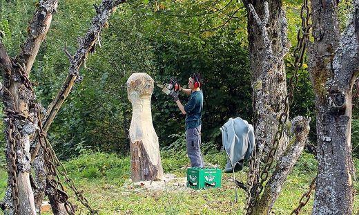 2015 gab es einen Holzbildhauer-Workshop