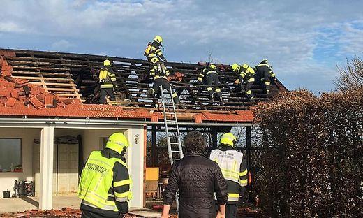 Sechs Feuerwehren bei Brand in Stiwoll im Einsatz