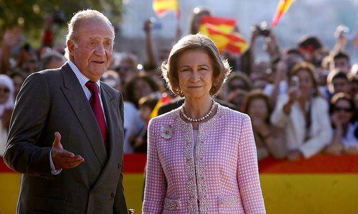 Juan Carlos I. und Sofía auf einem Archivfoto von 2007