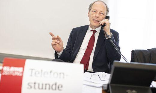 Alexander Jelly wird in der Telefonstunde der Kleinen Zeitung Rechtsfragen beantworten