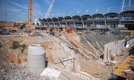 Das Stadion in Graz - der Vorplatz der Merkur Arena wurde umgebaut