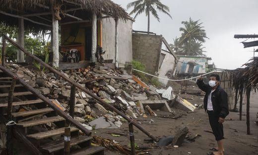 Hurrikanschäden im mexikanischen Bundesstaat Veracruz