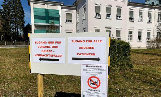 Besuchsverbot wegen Corona-Virus am LKH Fuerstenfeld