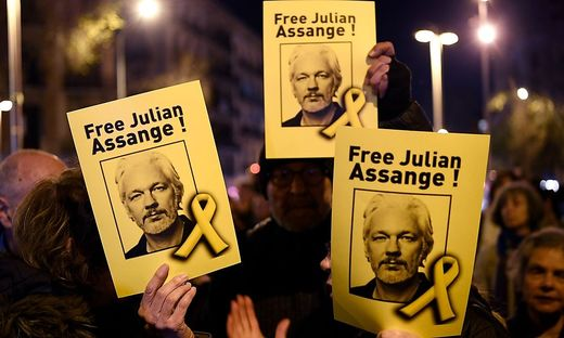 SPAIN-BRITAIN-US-AUSTRALIA-DEMO-JUSTICE-ASSANGE