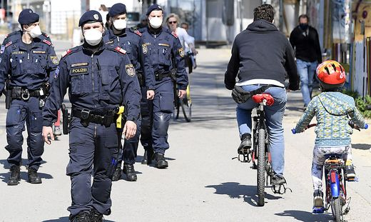 CORONAVIRUS: WIEN - KONTROLLMASSNAHMEN DER POLIZEI AM DONAUKANAL