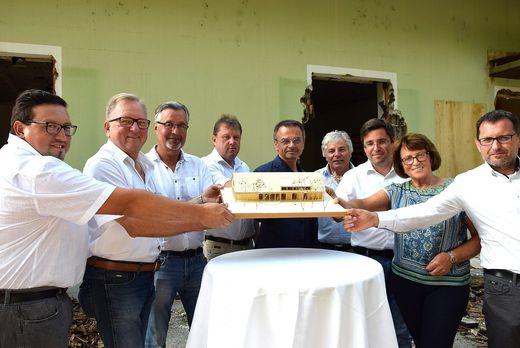 Spatenstichfeier für das gemeinsame Vereinshaus in Gamlitz