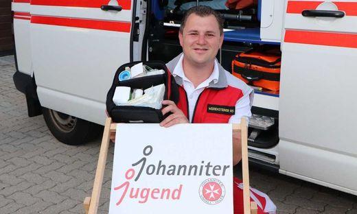 Manuel Weissensteiner aus St. Margarethen ist seit seiner Jugend bei den Johannitern in Patergassen