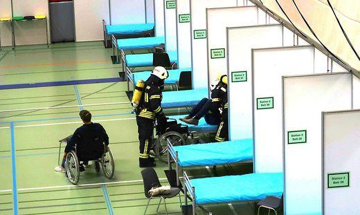 Im April 2020 wurde in Eisenstadt das Allsportzentrum zu einem Notquartier für Corona Patienten umgestaltet.