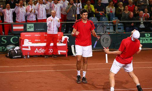 TENNIS: DAVIS CUP/OeSTERREICH VS WEISSRUSSLAND: MARACH (AUT)/OSWALD (AUT)