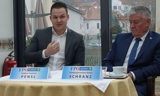 Raphael Pensl (l.) und Kletus Schranz