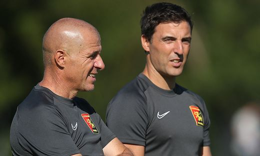 Klaus Schmidt (links) mit Co-Trainer Joachim Standfest