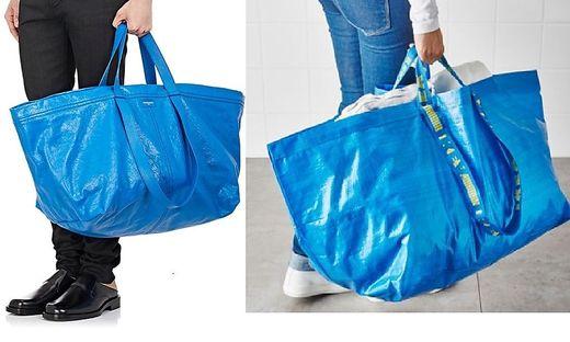 Stil Blaue Handtasche: Vom Designer Oder Von Ikea?