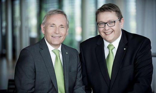 Vorstandssprecher Christian Purrer (li.) und Vorstandsdirektor Martin Graf