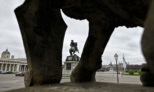 Der leere Wiener Heldenplatz