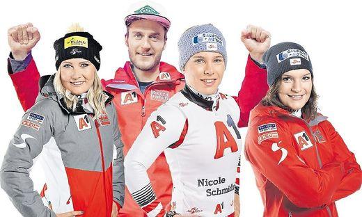 Tamara Tippler, Daniel Danklmaier, Nicole Schmidhofer, Ramona Siebenhofer