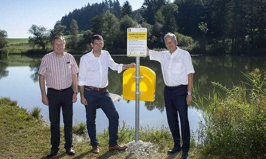 Lukas Wolte, Bürgermeister von St. Margareten, LR Martin Gruber, LH Peter Kaiser