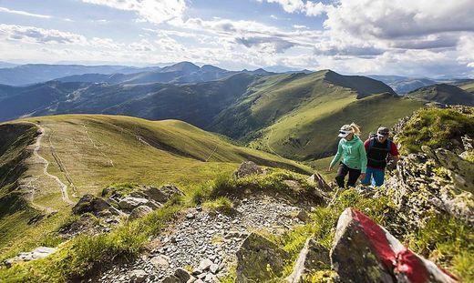Touristen strömen in die Berge: Eine Lenkung der Besucherströme ist notwendig – wie hier in den Nockbergen