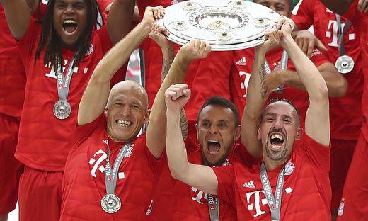 Verabschieden sich aus München: Arjen Robben, Rafinha und Franck Ribery