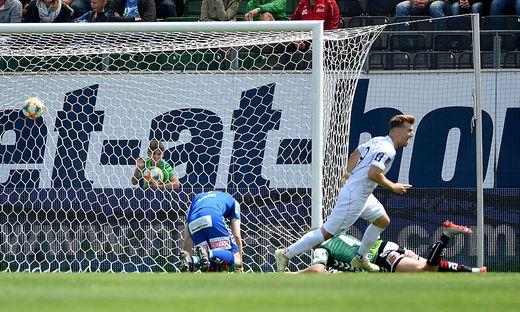 Marco Hödl jubelte nach dem 1:0