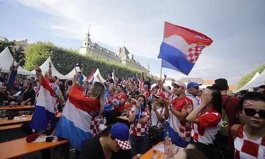 Finale Fussball WM Frankreich Kroatien Public Viewing Neuer Platz Klagenfurt Juli 2018