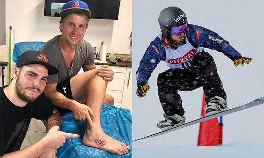 Hanno Douschan präsentiert stolz sein erstes Tattoo. Er ließ sich die olympischen Ringe von Tätowierer Daniel Bem stechen