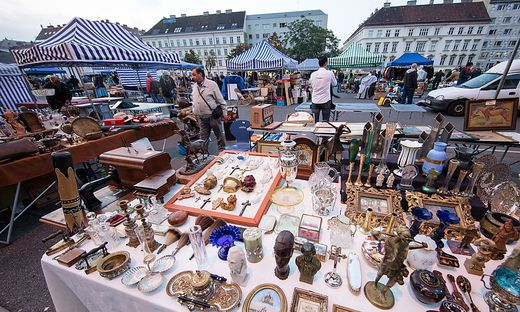 Der Flohmarkt am Wiener Naschmarkt.