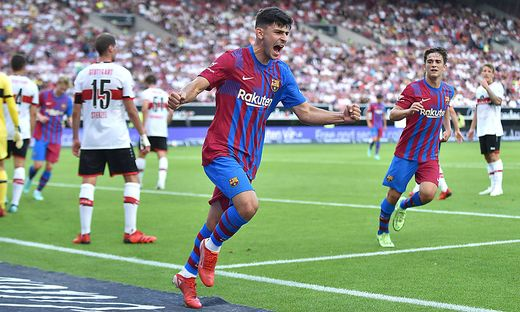 ÖFB-Teamspieler Yusuf Demir mit seinem ersten Treffer für den FC Barcelona