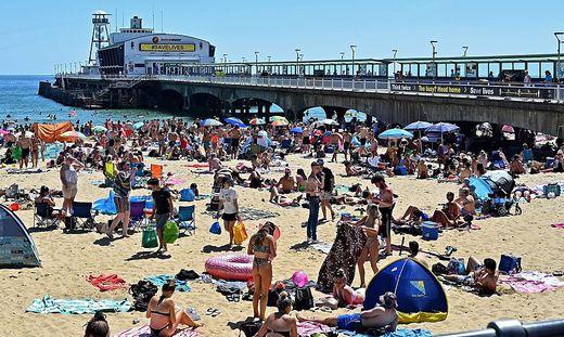 Der Strand von Bournemouth