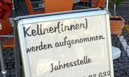 Jobangebot im Gastgewerbe - job offer in the gastronomy