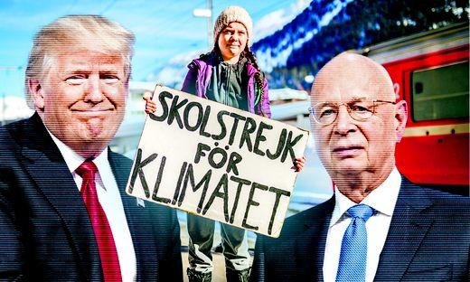 WEF-Gründer Klaus Schwab lud Donald Trump als Eröffnungsredner ein, doch wegen des impeachmentverfahrens könnte seine Teilnahme wackeln