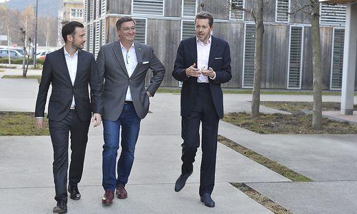 Start in Kammerwahlkampf: Sebastian Schuschnig, Jürgen Mandl, Harald Mahrer
