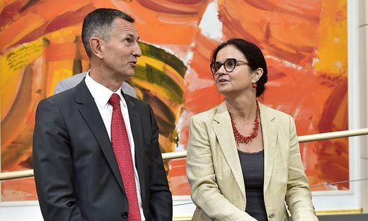 Verteidigungsminister Thomas Starlinger, hier mit Sozialministerin Brigitte Zarfl