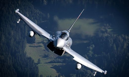 Zwei Eurofighter waren am Montag in Kärnten im Übungseinsatz