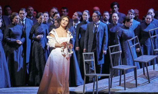"""Olga Peretyatko als """"Lucia di Lammermoor"""" an der Wiener Staatsoper"""