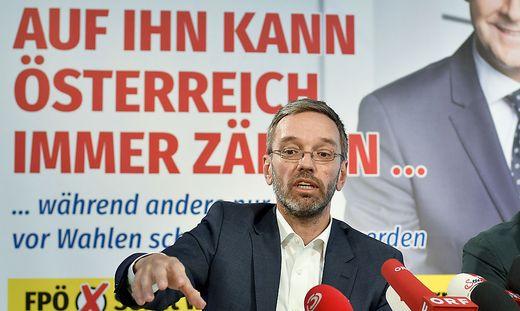 Innenminister Herbert Kickl, 2017 noch FPÖ-Generalsekretär
