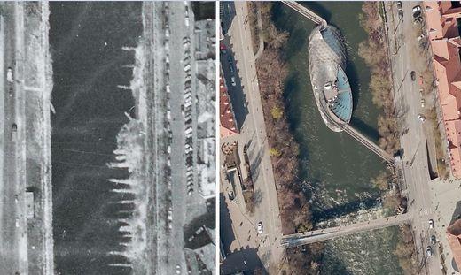 Graz im Jahr 1959 - und im Jahr 2019