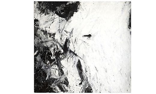 """Günter Brus, """"Ohne Titel"""", 1961, Dispersion auf Nesselstoff"""