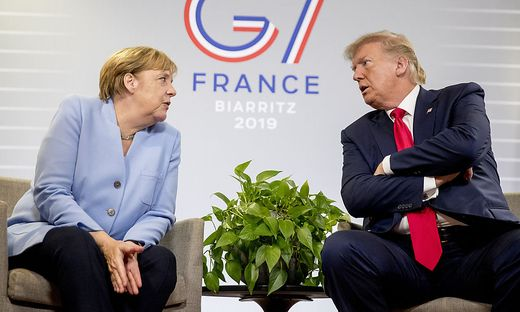 Angela Merkel mit Donald Trump