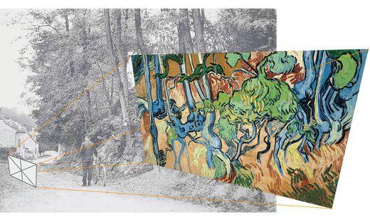 """Hier malte Van Gogh sein letztes Gemälde """"Tree Roots"""""""