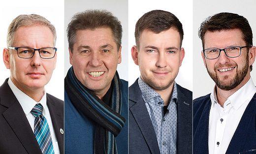 Die Spitzenkandidaten von Pölfing-Brunn: Karl Michelitsch, Peter Kastner, Herbert Reiterer, Gerhard Schreiner