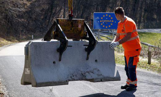 Im März wurden kleinere Grenzübergänge zwischen Österreich und Slowenien gesperrt.