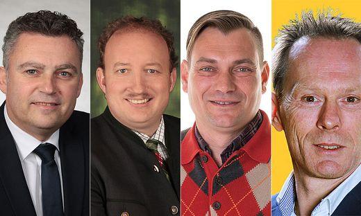 Alexander Pommer, Ernst Haring, Mario Kohlberger und Manfred Wiedner sind die Spitzenkandidaten in Oberhaag