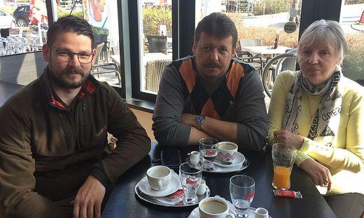 Dominik Wildbolz, Alfred Haingartner und Elfriede Wieser