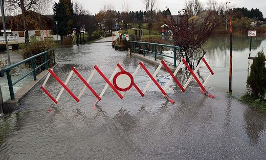 Heftige Regenfälle setzten im November auch Faak am See zu