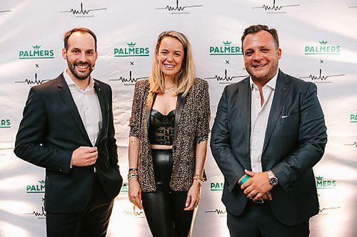 Designerin Marina Hoermanseder, Produktchef Sebastian Hörmann und Palmers-Vorstand Luca Wieser