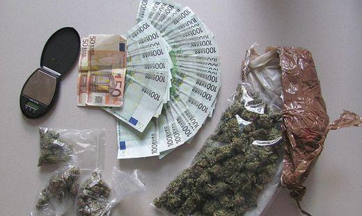 Sichergestellt: Bargeld aus dem Drogenverkauf und Cannabis