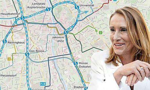 Neos-Gemeinderätin will die S-Bahn im City Tunnel durch Graz führen.
