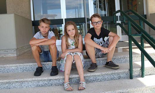Die Enttäuschung bei den Drittklässlern Marcell Komar, Lena Lackner und Simon Mischitz ist sehr groß