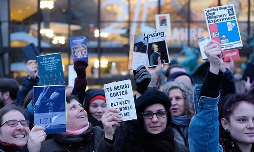 GERMANY-BOOK-FAIR-PROTEST